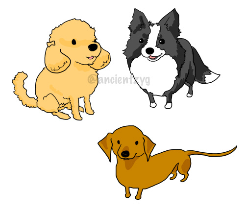 アニメ塗り犬